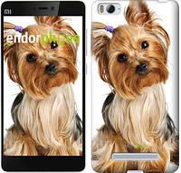"""Чехол на Xiaomi Mi4 Йоркширский терьер с хвостиком """"930u-163"""""""