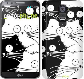 "Чехол на LG G2 Коты v2 ""3565u-37"""