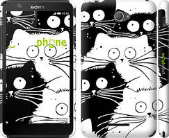 "Чохол на Sony Xperia E4 Dual Коти v2 ""3565c-87"""