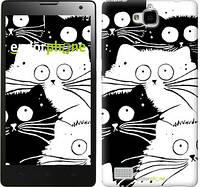 "Чехол на Huawei Honor 3C Коты v2 ""3565u-307"""