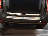 Renault Duster 2008+ гг. Накладка на задний бампер Натанико с загибом (нерж.)