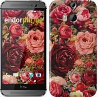"""Чохол на HTC One M8 Квітучі троянди """"2701c-30"""""""