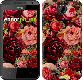 """Чехол на HTC Desire 300 Цветущие розы """"2701c-224"""""""