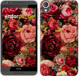 """Чехол на HTC Desire 820 Цветущие розы """"2701u-133"""""""