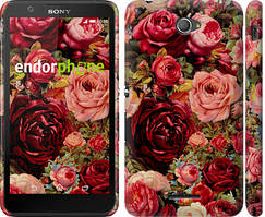 "Чохол на Sony Xperia E4 Dual Квітучі троянди ""2701c-87"""