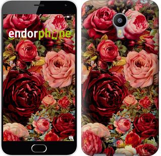"""Чехол на Meizu M2 Note Цветущие розы """"2701c-94"""""""
