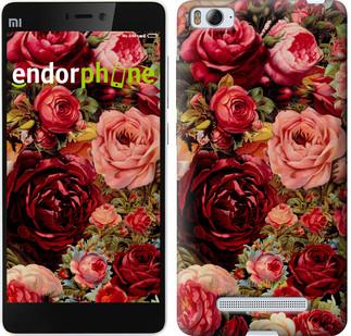 """Чехол на Xiaomi Mi4i Цветущие розы """"2701c-177"""""""