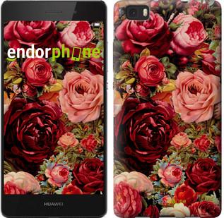 """Чехол на Huawei Ascend P8 Lite Цветущие розы """"2701u-126"""""""