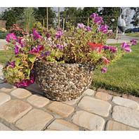 Вазон садовый уличный «Фиеста» бетонный Мрамор серый