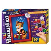 Набор для творчества Danko toys Вышивка Крупным бисером и лентами (BOC055912)
