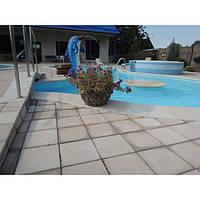 Вазон садовый уличный «Фиеста» бетонный Галька коричневая
