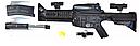 Автомат игрушечный на пульках с треногой и глушителем М16, фото 2