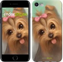 """Чехол на iPhone 7 Нарисованный йоркширский терьер """"928c-336"""""""
