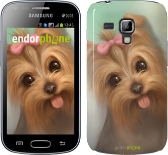 "Чехол на Samsung Galaxy S Duos s7562 Нарисованный йоркширский терьер ""928c-84"""