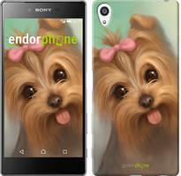 """Чохол на Sony Xperia Z5 Premium Намальований йоркширський тер'єр """"928u-345"""""""