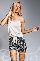Шелковая пижама с шортами S M L