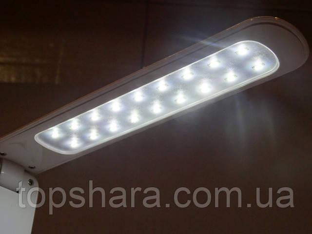 Настольная лампа 18 Led  с аккумулятором и сенсорной кнопкой на три режима: