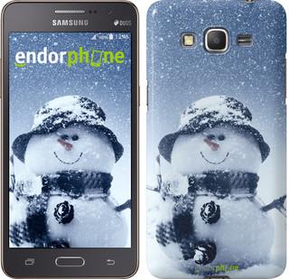 "Чехол на Samsung Galaxy Grand Prime VE G531H Весёлый снеговичёк ""214c-212"""