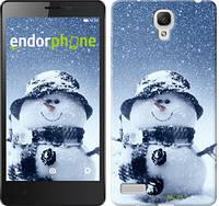 "Чехол на Xiaomi Redmi Note Весёлый снеговичёк ""214u-111"""
