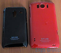 Чехол-накладка Пластик Лак SGP HTC G12 Red