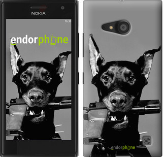 "Чехол на Nokia Lumia 730 Доберман ""2745u-204"""