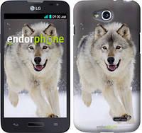 """Чехол на LG L80 Dual D380 Бегущий волк """"826u-332"""""""