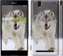 "Чохол на Sony Xperia T2 Ultra Dual D5322 Біжить вовк ""826c-92"""