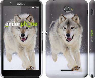"Чохол на Sony Xperia E4 Dual Біжить вовк ""826c-87"""