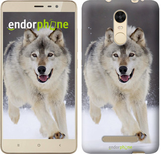 "Чехол на Xiaomi Redmi Note 3 pro Бегущий волк ""826c-335"""