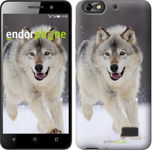 "Чехол на Huawei Honor 4C Бегущий волк ""826u-183"""