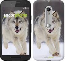 """Чохол на Motorola Moto G3 Біжить вовк """"826u-318"""""""