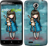 "Чехол на HTC Desire 620G Девочка с зайчиком ""915u-187"""