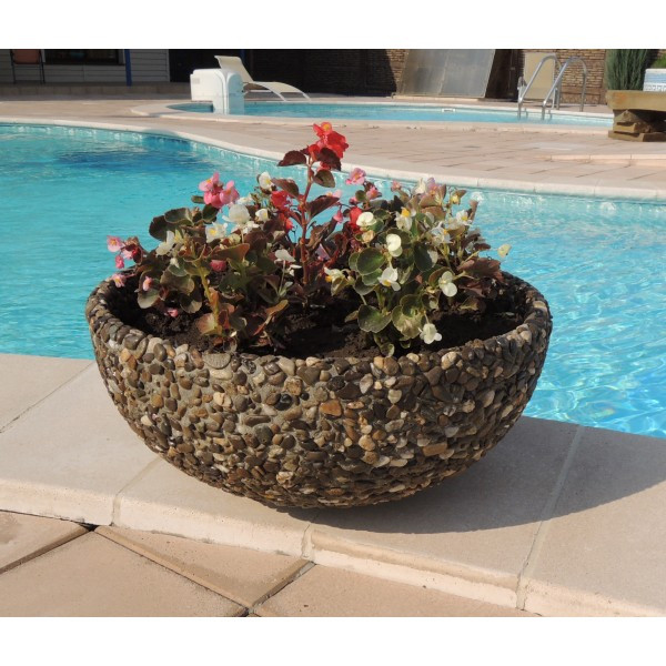 Вазон садовый уличный «Чаша» бетонный