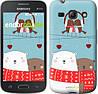 """Чехол на Samsung Galaxy Star Advance G350E Мишки и птички """"3375u-210"""""""