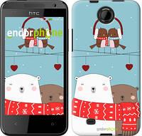 """Чехол на HTC Desire 300 Мишки и птички """"3375c-224"""""""