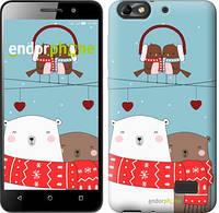 """Чехол на Huawei Honor 4C Мишки и птички """"3375u-183"""""""