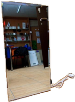 """Инфракрасный керамический обогреватель с терморегулятором  """"Венеция"""" ПКИТ-300 Вертикальный Зеркальный"""