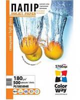 Фотобумага ColorWay (ПГ 180-500) PG1805004R