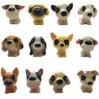 Розпродаж! Собачки мини глянцевые лупоглазики 3 см (12)
