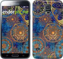 """Чехол на Samsung Galaxy S5 Duos SM G900FD Золотой узор """"678c-62"""""""