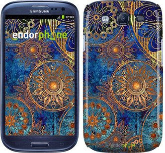 "Чохол на Samsung Galaxy S3 i9300 Золотий візерунок ""678c-11"""