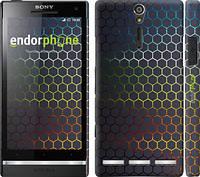 "Чехол на Sony Xperia S LT26i Переливающиеся соты ""498c-86"""