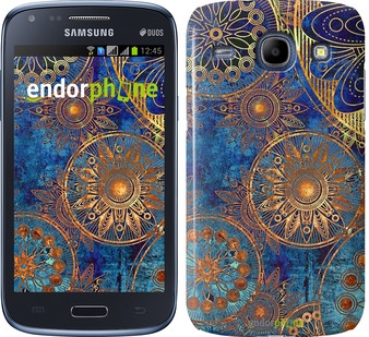 "Чехол на Samsung Galaxy Core Plus G3500 Золотой узор ""678u-359"""