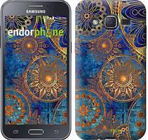 """Чехол на Samsung Galaxy J2 J200H Золотой узор """"678c-190"""""""