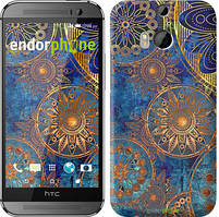 """Чохол на HTC One M8 Золотий візерунок """"678c-30"""""""
