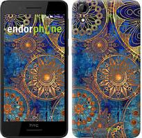 """Чохол на HTC Desire 728G Золотий візерунок """"678u-145"""""""