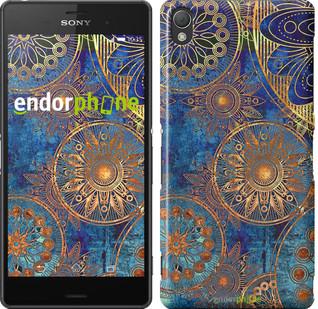 """Чохол на Sony Xperia Z3 dual D6633 Золотий візерунок """"678c-59"""""""