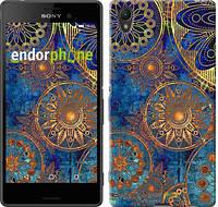 "Чехол на Sony Xperia Z3+ Dual E6533 Золотой узор ""678u-165"""