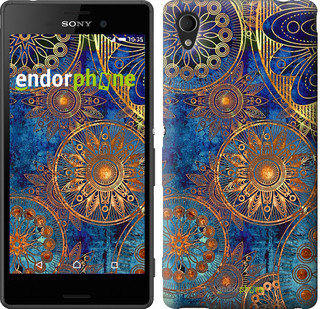 "Чохол на Sony Xperia C4 Золотий візерунок ""678u-295"""