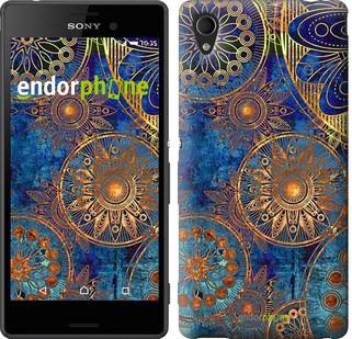 """Чехол на Sony Xperia M4 Aqua Золотой узор """"678c-162"""""""